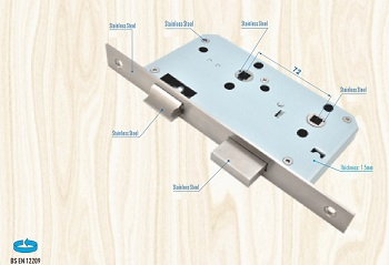 Euro Mortise Lock Body - Bathroom Lock