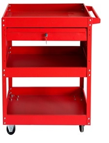 One Drawer & Three Shelves Tool Trolley Cart