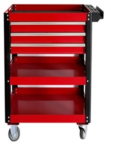 Three Drawers & Three Shelves Tool Trolley Cart