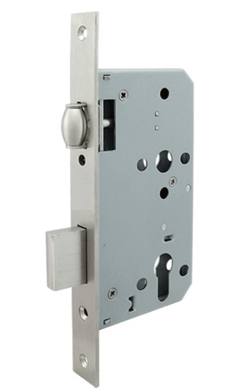 Euro Mortise Lock Body (Lock Case) - Roller Deadbolt