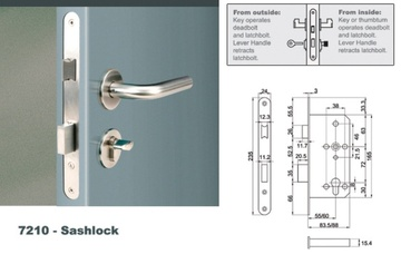 Euro Mortise Lock  - Sashlock with Silent Latch