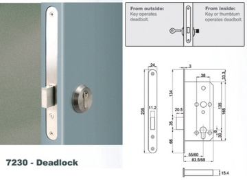 Euro Mortise Lock - Deadlock
