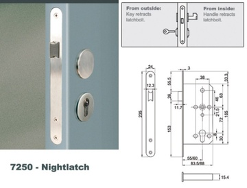 Euro Mortise Lock - Nightlatch Lock