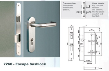 Euro Mortise Lock - Escape Sashlock (Interconnect Lock)
