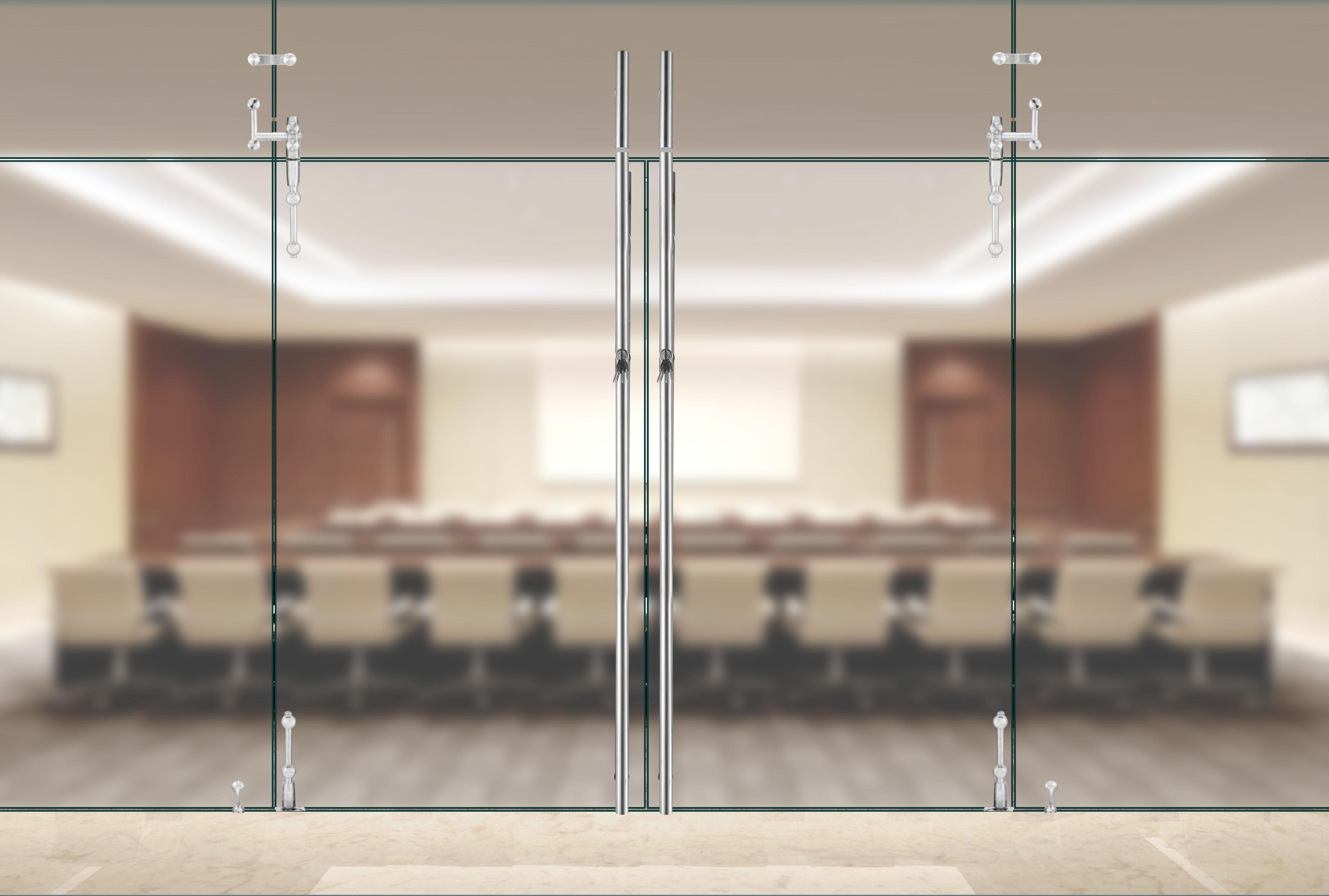 Glass Door Pull Handle With Lock Functionquan Juli Intl